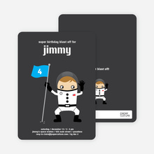 Astronaut Birthday Invitation - Dark Grey