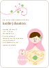 Babushka Nesting Dolls Shower Invitations - Fluffy Heart