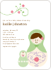 Babushka Nesting Dolls Shower Invitations - Spring Leaf