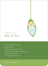 Baby Bud Baby Shower Invitations - Bubbly Blue