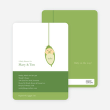 Baby Bud Baby Shower Invitations - Avocado