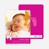 Baby Feet Birth Announcements - Magenta