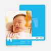 Baby Feet Birth Announcements - Cornflower