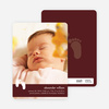 Baby Feet Birth Announcements - Dark Chocolate