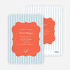 Baby Pin Shower Invitation - Blue Grey