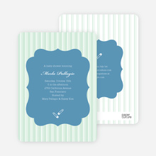 Baby Pin Shower Invitation - Sage Grey