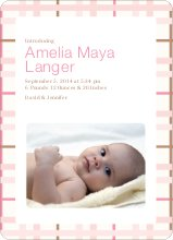 Baby Quilt Photo Birth Announcements - Rose