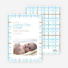 Baby Quilt Photo Birth Announcements - Oceanside