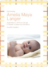 Baby Quilt Photo Birth Announcements - Yellow