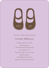 Baby's New Shoes - Wisteria
