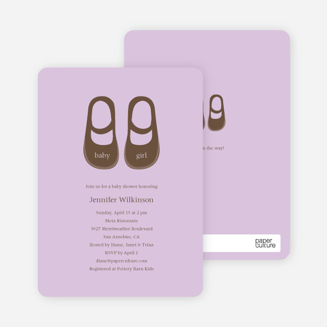 Baby's Got a New Pair of Shoes Baby Shower Invitations - Wisteria