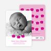 Bah Bah Pink Sheep Baby Announcements - Magenta