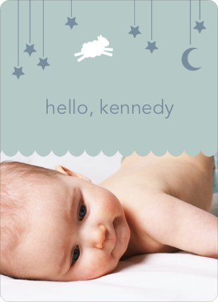 Bah Bah White Sheep Birth Announcements - Blue Horizon