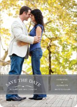 Banner Announcement Save the Date Photo Cards - Slate Grey