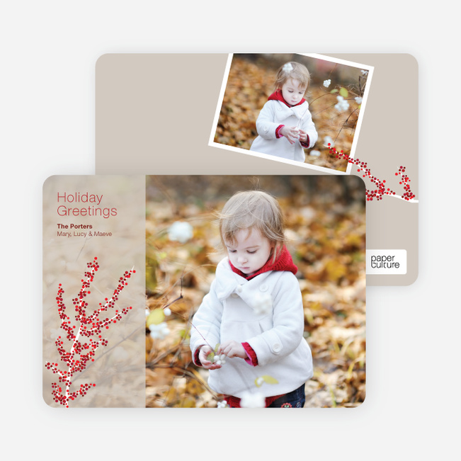 Holiday Greeting Cards: Berry - Almond