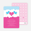 Bird Messenger Modern Birthday Invitations - Pink