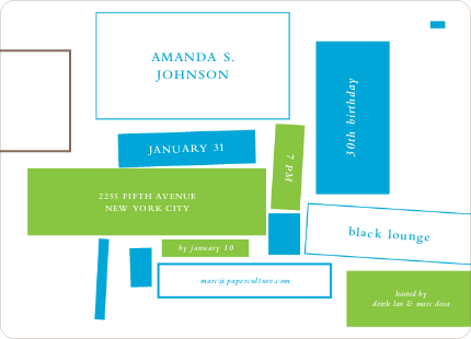 Block Party Invitations - Multi
