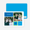Blocks and Picks Holiday Photo Cards - Majestic Blue
