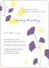 Bridal Shower Invitations: Leaves - Lemon Chiffon