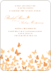 Butterfly Joy Wedding Shower Invites - Papaya
