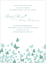 Butterfly Joy Wedding Shower Invites - Aqua