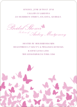 Butterfly Joy Wedding Shower Invites - Fuschia