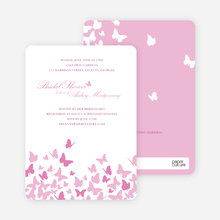 Butterfly Joy Wedding Shower Invitations - Fuschia