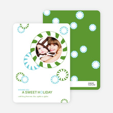 Candy Cane Christmas Cards - Lime Green