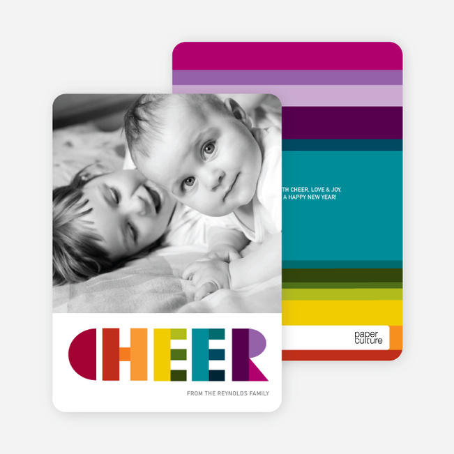 Cheer: Holiday Photo Card - Multi