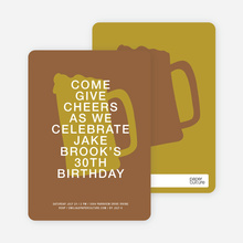 Cheers Invitations - Chocolate Porter