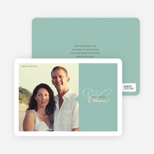 Chic Holiday Cheer – Modern and Sophisticated Holiday Photo Card - Mint