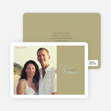 Chic Holiday Cheer – Modern and Sophisticated Holiday Photo Card - Olive