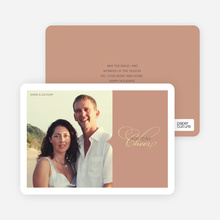 Chic Holiday Cheer – Modern and Sophisticated Holiday Photo Card - Terra Cotta
