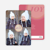Christmas Icons Mt Rushmore Christmas Cards - Pink