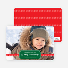 Christmas Label Holiday Photo Cards - Jade