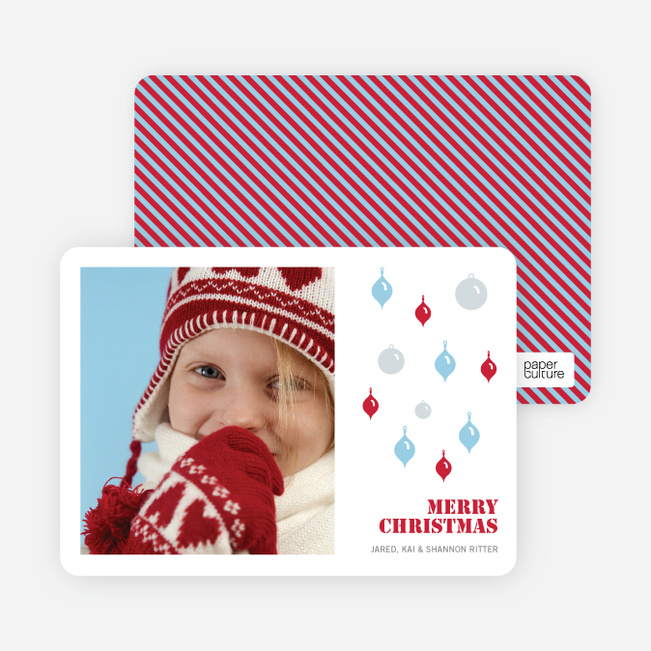 Christmas Cards: Holiday Ornaments - Strawberry
