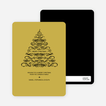 Christmas Tree Flourish - Black