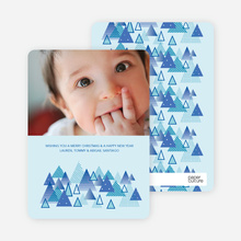Christmas Tree Forest Holiday Cards - Periwinkle