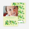 Christmas Tree Forest Holiday Cards - Apple Green