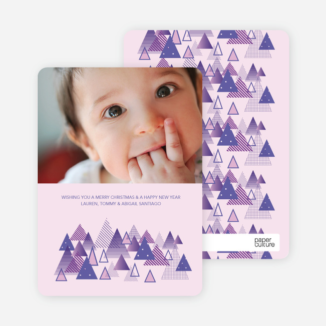 Christmas Tree Forest Holiday Cards - Amethyst