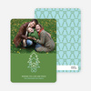 Christmas Tree with Heart Roots Christmas Card - Asparagus