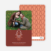 Christmas Tree with Heart Roots Christmas Card - Maroon