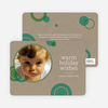 Circle Holiday Photo Cards - Forest Green
