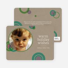 Circle Holiday Photo Cards - Mauve