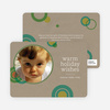 Circle Holiday Photo Cards - Khaki