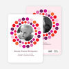 Circle Photo Announcements - Fuchsia