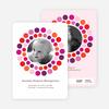 Circle Photo Announcements - Fuchsia