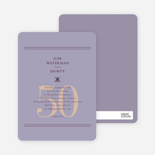 Classic Birthday Invitations - Lavender