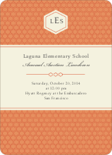 Classic Hexagon Party Invitations - Orange Spice