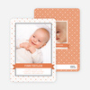 Photo Birth Announcements: Classic Ribbon Frame - Dark Saffron